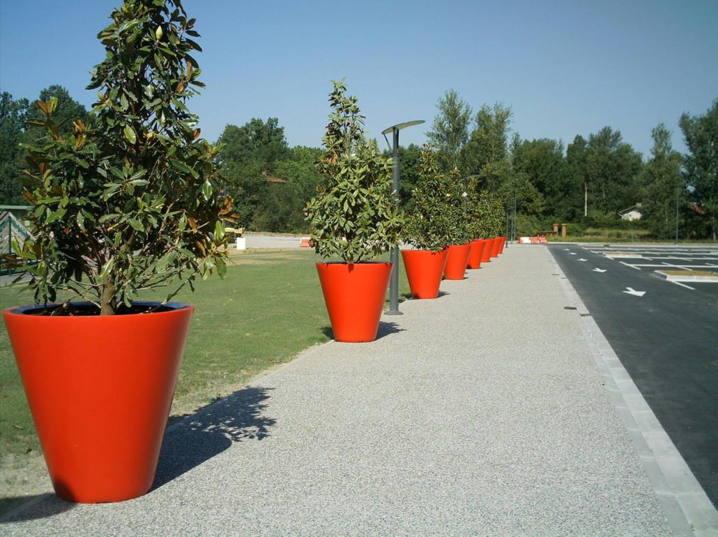 Bac A Fleur Grande Taille pots de fleurs grande taille, gamme open - green city